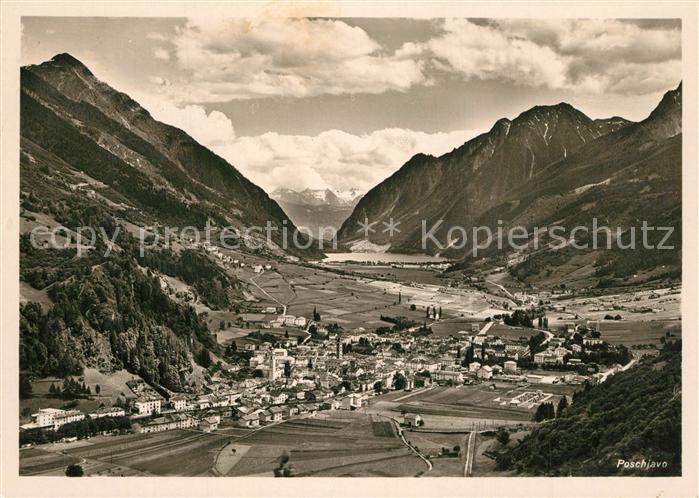 Poschiavo Panorama Alpen Poschiavo