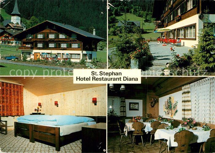 St_Stephan_BE Hotel Restaurant Diana Zimmer Gaststube St_Stephan_BE