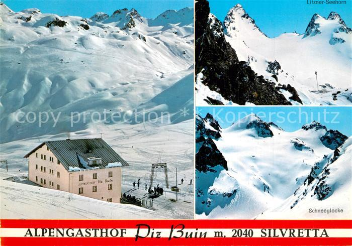 Silvretta Alpengasthof Piz Buin Bielerhoehe  Silvretta