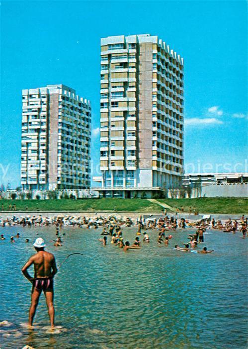 AK / Ansichtskarte Statiunea_Saturn Strandpartie Hotels Statiunea Saturn