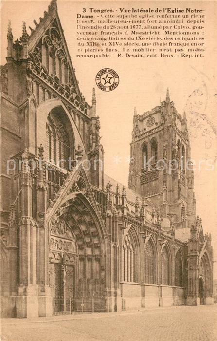 AK / Ansichtskarte Tongres Vue laterale de l'Eglise Notre Dame Tongres