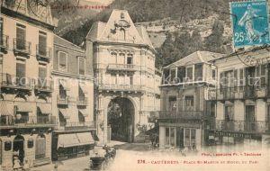 AK / Ansichtskarte Cauterets Place Saint Martin Hotel du Parc Cauterets