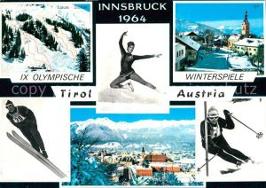 AK / Ansichtskarte Olympia IX Olympische Winterspiele Innsbruck Skispringen Skifahren