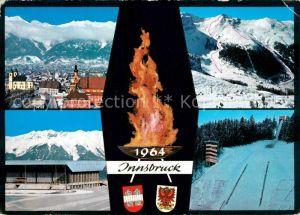 AK / Ansichtskarte Olympia IX. Olympische Winterspiele Innsbruck Axamer Lizum Olympia Eisstadion Sprungschanze