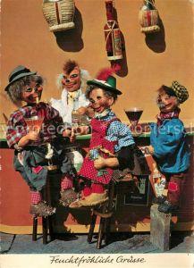 AK / Ansichtskarte Igel_Tiere Puppen Bar Alkohol Pfeife Wein Cinzano