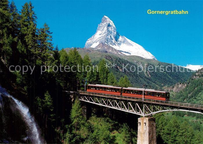 AK / Ansichtskarte Gornergratbahn Findelbachbr?cke Matterhorn Mont Cervin Zermatt  Gornergratbahn