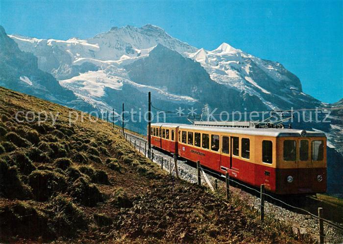 AK / Ansichtskarte Jungfraubahn Kleine Scheidegg Jungfrau Jungfraubahn