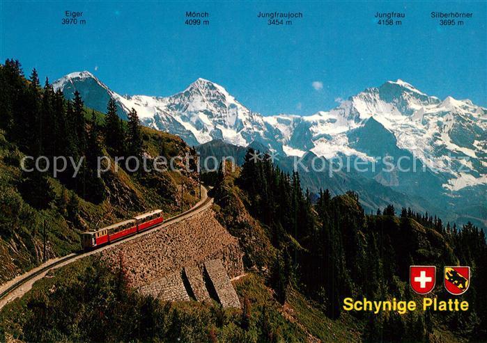 AK / Ansichtskarte Schynige Platte Bahn Eiger M?nch Jungfrau  Schynige Platte Bahn