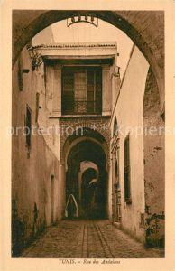 AK / Ansichtskarte Tunis Rue des Andalous Tunis