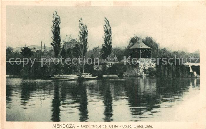 AK / Ansichtskarte Mendoza Lago Parque del Oeste Mendoza