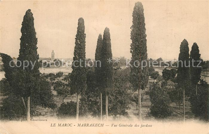 AK / Ansichtskarte Marrakech Vue generale des jardins Marrakech