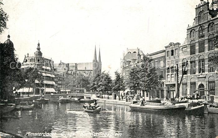 AK / Ansichtskarte Amsterdam_Niederlande Singel b n Koningsplein Amsterdam_Niederlande