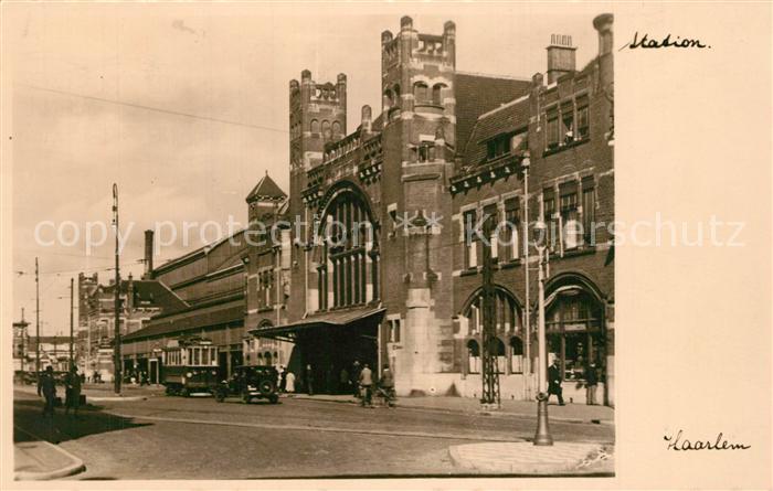 AK / Ansichtskarte Haarlem Station Bahnhof Haarlem