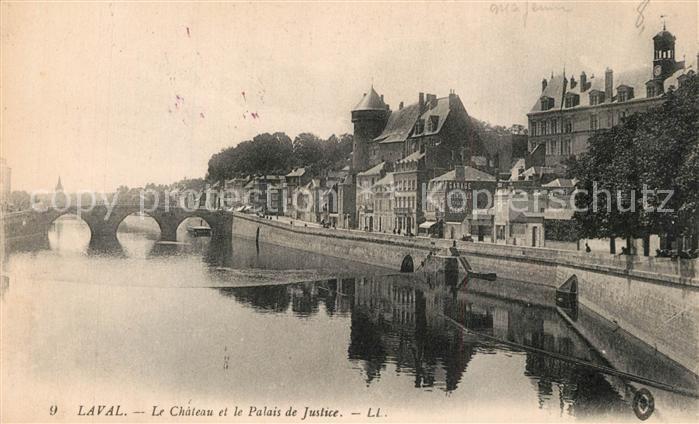 AK / Ansichtskarte Laval_Mayenne Chateau Palais de Justice Pont Laval Mayenne