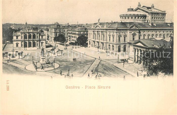 AK / Ansichtskarte Geneve_GE Place Neuve Wollmann Sammlung 1899 Geneve_GE