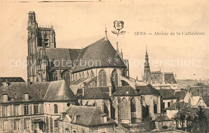 AK / Ansichtskarte Sens_Yonne Abside de la Cathedrale Sens_Yonne
