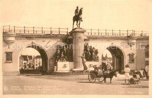 AK / Ansichtskarte Ostende_Oostende Monument Roi Leopold II Standbeeld Koning Leopold