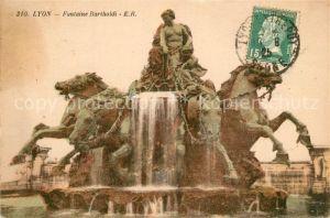 AK / Ansichtskarte Lyon_France Fontaine Bartholdi Lyon France