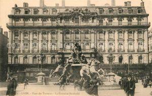 AK / Ansichtskarte Lyon_France Place des Terreaux Fontaine Bartholdi Lyon France