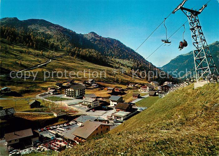 AK / Ansichtskarte Malbun Panorama mit Sessellift Sareis Malbun