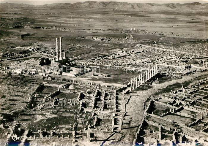 AK / Ansichtskarte Timgad Ruines Romaines vue aerienne Timgad