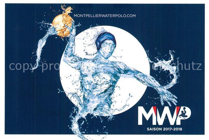 AK / Ansichtskarte Montpellier_Herault Waterpolo Calendrier des Matchs Saison 2017 2018 Montpellier Herault