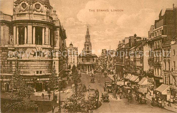 London The Strand Traffic London