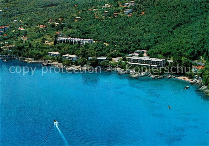 AK / Ansichtskarte Opatija_Istrien Motel Icici Fliegeraufnahme Opatija_Istrien