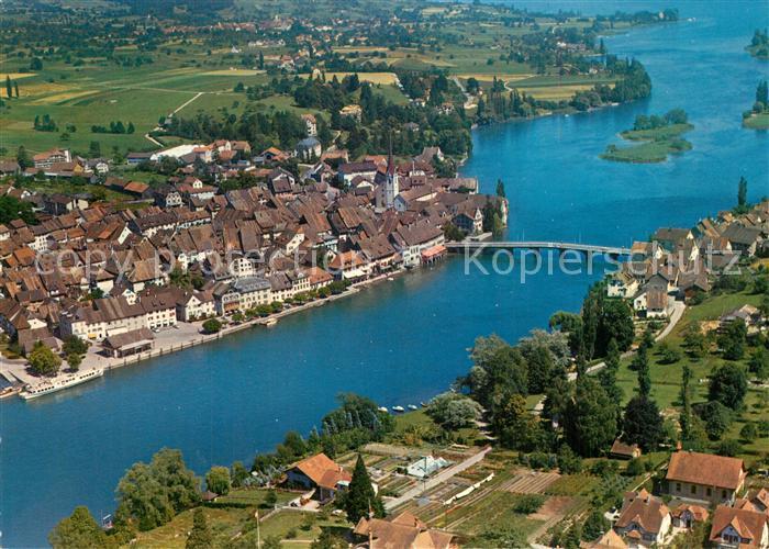 AK / Ansichtskarte Stein_Rhein Fliegeraufnahme Rheinpartie Stein Rhein
