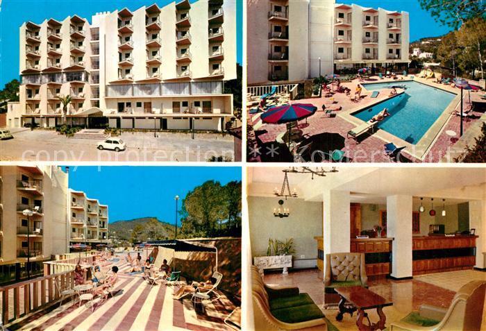 AK / Ansichtskarte Paguera_Mallorca_Islas_Baleares Hotel Palmira Pool Paguera_Mallorca