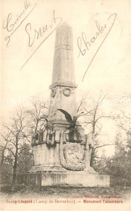 AK / Ansichtskarte Bourg Leopold Monument Tacambaro Bourg Leopold