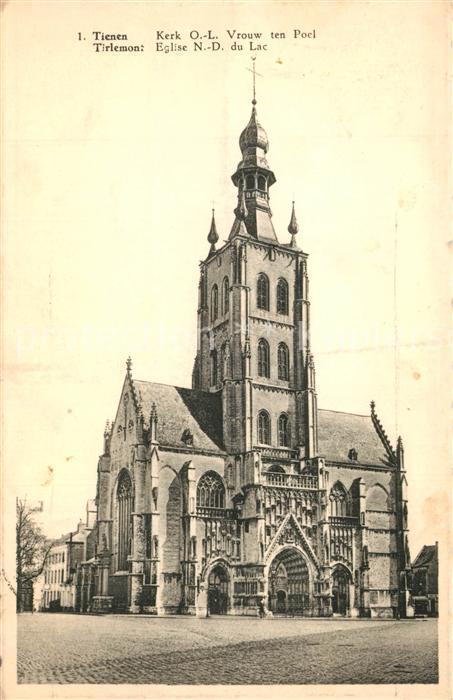 AK / Ansichtskarte Tienen Kerk OL Vrouw ten Poel Tienen