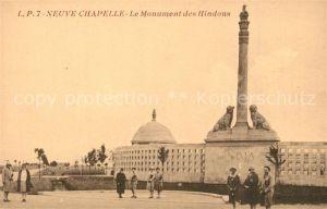 AK / Ansichtskarte Neuve Chapelle Monument des Hindous Neuve Chapelle
