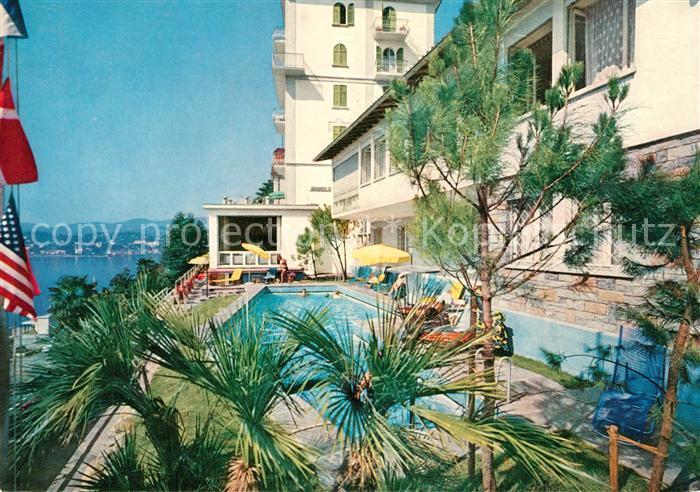 AK / Ansichtskarte Castagnola Cassarate Hotel M?ller e Belmonte Pool Castagnola Cassarate