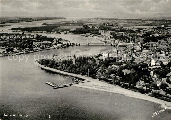 AK / Ansichtskarte Sonderborg Fliegeraufnahme Sonderborg