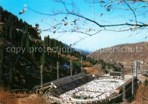 AK / Ansichtskarte Almaty Sportkoplex Medeo Almaty