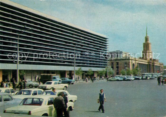 AK / Ansichtskarte Tbilisi Bahnhofsplatz Tbilisi