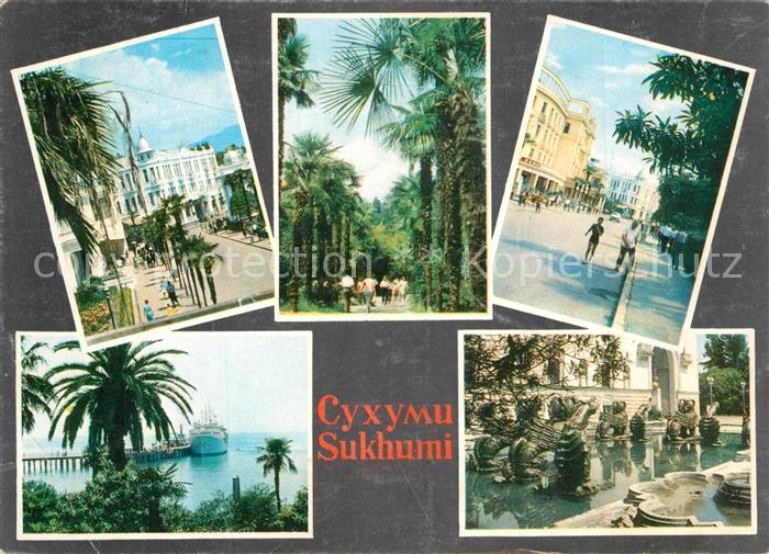 AK / Ansichtskarte Suchumi Hotel Riza Botanischer Garten Hafen Suchumi 0