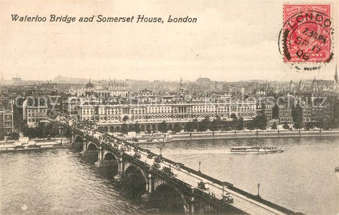 London Waterloo Bridge and Somerset House London