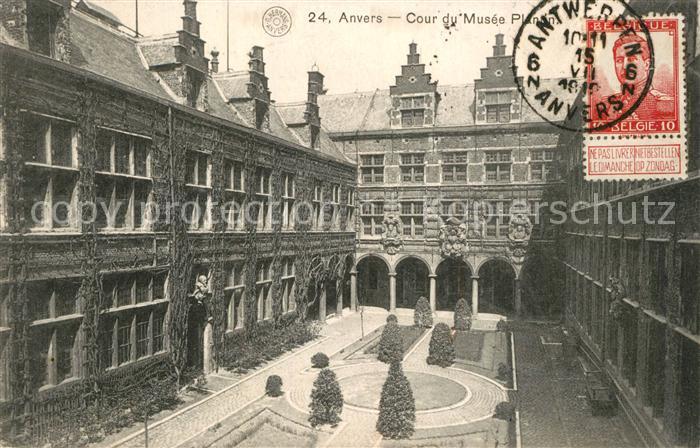 AK / Ansichtskarte Anvers_Antwerpen Cour du Musee Plantin Anvers Antwerpen