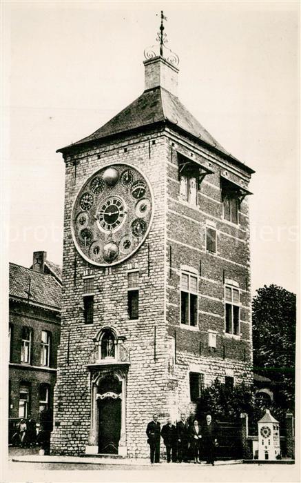 AK / Ansichtskarte Lier Zimmertoren met astronomische klok en studio Lier