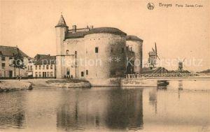 AK / Ansichtskarte Bruges_Brugge_Flandre Porte Sainte Croix