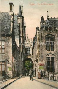 AK / Ansichtskarte Bruges_Brugge_Flandre Rue de l'Ane Aveugle