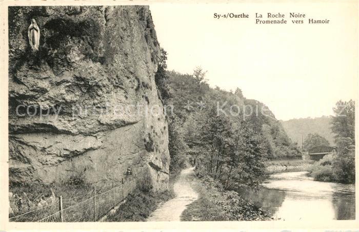 AK / Ansichtskarte Sy sur Ourthe La Roche Noire Promenade vers Hamoir