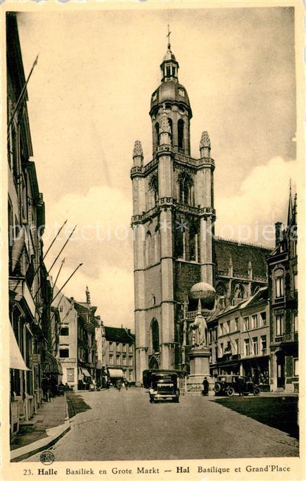 AK / Ansichtskarte Halle_Antwerpen Basiliek en Grote Markt Halle_Antwerpen