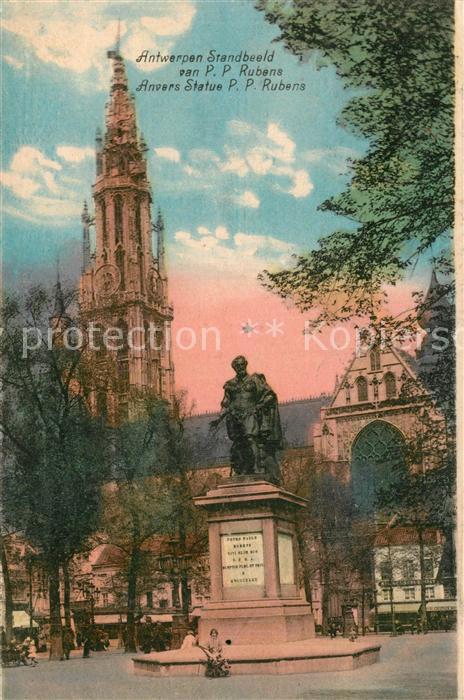 AK / Ansichtskarte Anvers_Antwerpen Statue Peter Paul Rubens Anvers Antwerpen