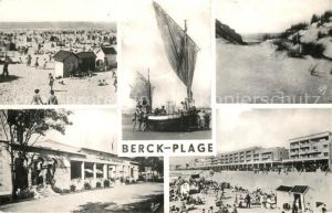 AK / Ansichtskarte Berck Plage Vues divers Plage Bateau de peche les dunes Berck Plage