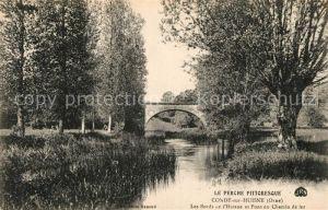 AK / Ansichtskarte Conde sur Huisne Les bords de l Huisne Pont du Chemin de fer Conde sur Huisne