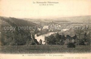 AK / Ansichtskarte Saint Christophe de Chaulieu Vue panoramique les bords de l Orne Saint Christophe de Chaulieu