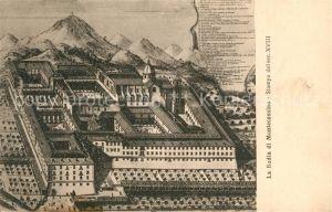 Montecassino Badia Stampa del Secolo XVIII Montecassino